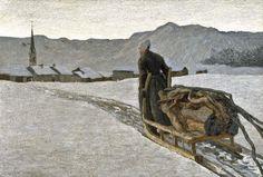 Giovanni Segantini (Italian, 1858-1899), Ritorno dal bosco [Return from the Woods], 1890. Oil on canvas, 64.5 x 95.5 cm.