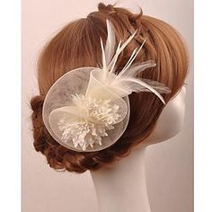 Gorgeous Tulle and Feather  Bridal/Special Occasion  Flower/ Corsage – USD $ 10.19