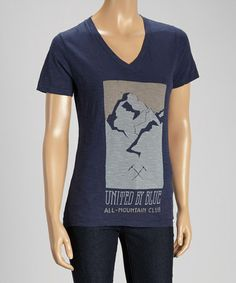 Another great find on #zulily! All Mountain Navy Organic V-Neck Tee #zulilyfinds
