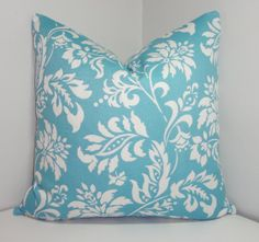 SALE INDOOR/OUTDOOR Pillow Cover Sky Blue/White by HomeLiving, $17.00