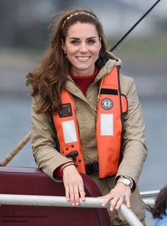hrhduchesskate: Canada Tour, Day 7, Haida Gwaii, British Columbia, September 30, 2016-Duchess of Cambridge on a fishing boat