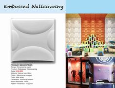 Embossed Wallcoverig comes in the form of plant fiber products .The Wallcovering have the feel of solid fibreboard and can be easily painted with wall paint.