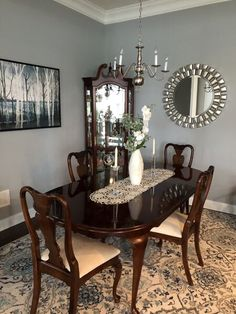 Astoria Grand Chalus 7 Piece Extendable Dining Set & Reviews | Wayfair Dinning Room Wall Decor, Dining Room Design, Room Decor, Round Dining Room Sets, Formal Dining Tables, Dining Rooms, Double Pedestal Dining Table, Solid Wood Dining Set, Comfortable Dining Chairs