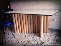 Eco Design, Cardboard Furniture, Cardboard Tubes, Furnitures, Objects, Table, Home Decor, Decoration Home, Room Decor