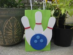 Bowling Pins and Ball Birthday Party Favor by christinescritters, $3.00