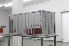 mini mirrored container sculpture by Stefan Sous