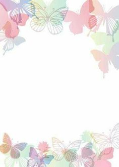 """Cute butterflies"": ""Mariposas all around"" letter pad Printable Border, Printable Paper, Cute Wallpapers, Wallpaper Backgrounds, Iphone Wallpaper, Image Pinterest, Scrapbook Paper, Scrapbooking, Boarders And Frames"