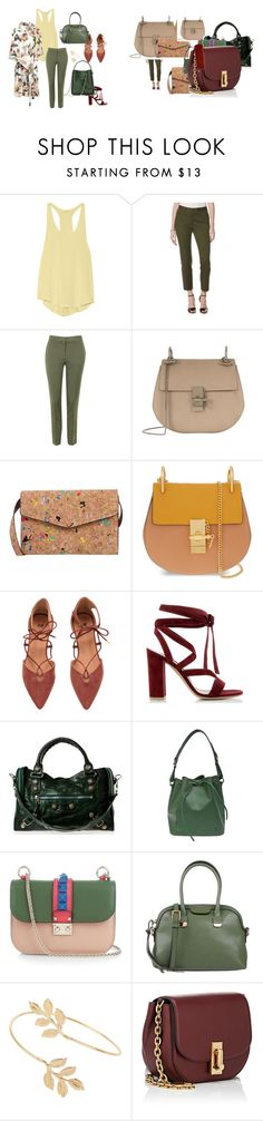 """""""Nature"""" by explorer-14603194782 ❤ liked on Polyvore featuring Yummie by Heather Thomson, Rafaella, Topshop, Chloé, 7 Chi, Gianvito Rossi, Balenciaga, Louis Vuitton, Valentino and 3.1 Phillip Lim"""