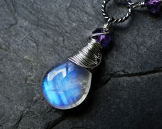 I love the moonstone and the fact that it also has an amethyst stone