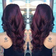 Dark Cherry Red Hair Color Redkin Hair Color.