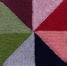 Oddball Sampler Afghan Square #13: Windmill Quilt - free knit pattern by Sarah Bradberry
