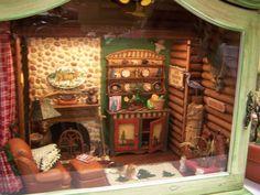 dollhouse miniature boat cabins | Fun idea! Love the boat shaped shelves