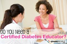 How a certified diabetes educator can help you manage your diabetes. | via @SparkPeople #diet #health #nutrition