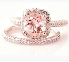 Pretty Too Much Pink Morganite Engagement Rose Gold Ring Wedding