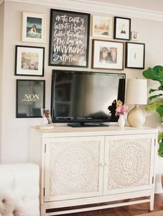 My tv area is set up almost exactly like this.  I'll have to give the picture set up a try.