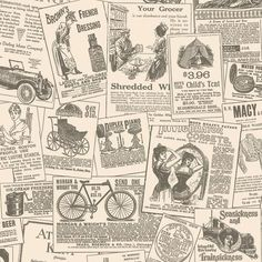 vintage french newspaper wallpaper - Google Search