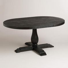 I like the gray table, not the chairs. WorldMarket.com: Round to Oval Black Greyson Extension Table