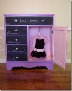 Such a sweet girl's dress up wardrobe!