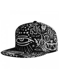 2d62b2af708 LOCOMO Abstract Art Graffiti Big Eye Painting Baseball Cap FFH252BLK -  Black - CP11UB9XIAP