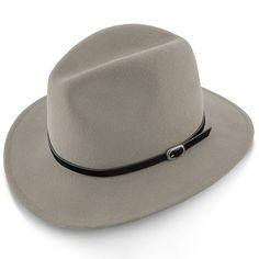 Legacy - Walrus Hats Grey Wool Felt Fedora Hat - H7002 Fedora Hat Women, Hat Men, Fedora Hats, Men's Hats, Western Hats, Cowboy Hats, Leather Hats, Hats For Men, Classic Looks
