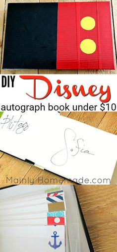Easy DIY Autograph Book For your next Disney Trip under $10. Make this book to capture cherished memories with just a few simple materials.