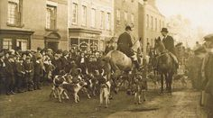 1911 Stag hounds in high street