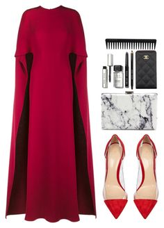"""#109"" by daisyellee ❤ liked on Polyvore featuring Valentino, Gianvito Rossi, Balenciaga, Bobbi Brown Cosmetics, Chanel, GHD, women's clothing, women, female and woman"