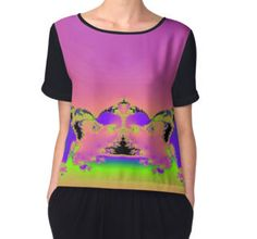 'Garden Of The Buddha' Women's Chiffon Top available at http://www.redbubble.com/people/chrisjoy/works/1154097-garden-of-the-buddha