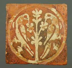 Medieval floor tile from Tintern Abbey. This item comes from: National Museums & Galleries of Wales (Item reference: This tile, produced between 1272 and shows two birds feeding from a central tree. Tile size: 135 x Medieval World, Medieval Art, Tile Art, Mosaic Tiles, Medieval Tapestry, Art Ancien, Renaissance, Antique Tiles, Tile Patterns