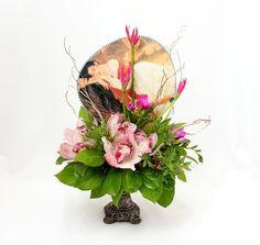 """Цветочная композиция """"Японка"""", цветочный магазин, цветочные, цветочные композиции на стол, цветы, цветы букеты живые, цветы фото"""