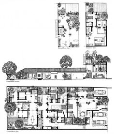 Nonis Copy Drawing of the 33rd Lane Residence, 1985, Geoffrey Bawa