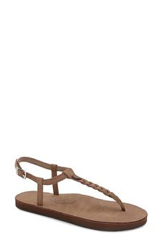 Rainbow 'T-Street' Braided T-Strap Sandal (Women) available at #Nordstrom