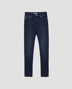 Image 8 of THE HIGH WAIST JEANS IN BLEND BLUE from Zara
