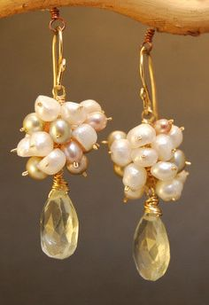 Victorian 6 Mixed Pearls & Green Amethyst