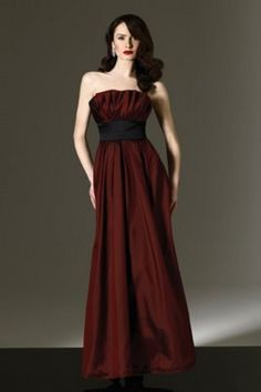 Oxblood Bridesmaid Dress; dramatic winter wedding best suited here