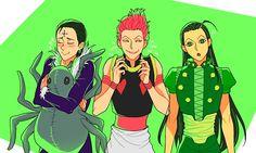 Chrollo Lucilfer, Illumi Zoldyck and Hisoka   Hunter x Hunter #hxh #kuroro #irumi #zorudikku #spider #phantom #troupe