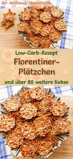 Low carb Christmas baking recipe for Florentine biscuits: low carbohydrate, low calorie Christmas biscuits – baked without cornmeal and sugar … # biscuits La Florentine, Florentine Cookies, Christmas Brunch, Christmas Baking, Pastry Recipes, Baking Recipes, Law Carb, Christmas Biscuits, Christmas Cookies