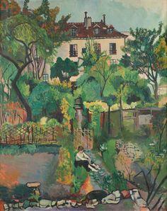 Suzanne Valadon (French, 1865-1938): Paysage à Montmartre (le jardin de la rue Cortot), 1919. Oil on canvas, 92 x 73 cm.