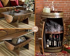 "Has anyone got a spare wine barrel laying around ready for this repurposing idea? There are lots of ways of repurposing wine barrels. View them on our ""Recycled Wine Barrels"" album at http://theownerbuildernetwork.co/recycled-and-repurposed/recycled-wine-barrels/ Trash or Treasure?"