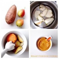 Sweet Potato and Pear Purée suitable from 4 months
