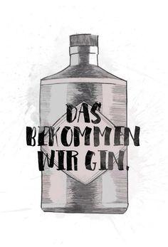 Gin als Alu-Dibond Druck