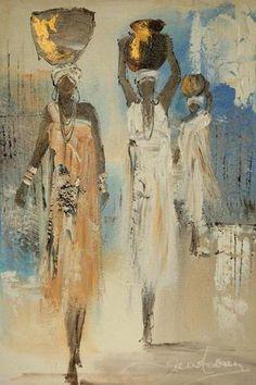 African Artwork, African Art Paintings, Black Art Painting, Figure Painting, Cuban Art, Caribbean Art, African Artists, Feminist Art, Afro Art