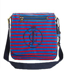 Juicy Couture Striped Velour Messenger Bag, Red Ginger Blue Juicy Couture http://www.amazon.com/dp/B009AWQNPA/ref=cm_sw_r_pi_dp_ykNxub1EQQQY7