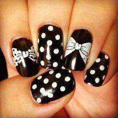 Konad nail stamping plate #m59 black and white polka dots!!