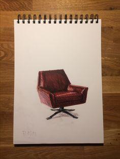 furniture , design , marker , color pencil , interior