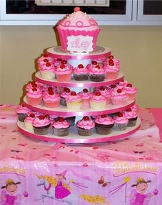 Pinkalicious party cupcake tower!