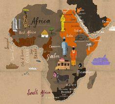 Um mapa do mundo de acordo com ilustradores e storytellers