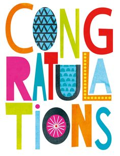 Congratulations Greetings Card on Behance