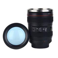 Coffee Tea Camera Lens Shape Cup - Travel Mug Stainless Steel