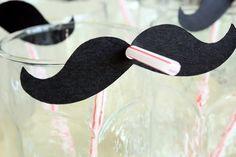 Mustache straw decor